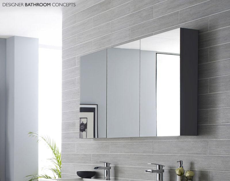Mirror cabinests in bathroom
