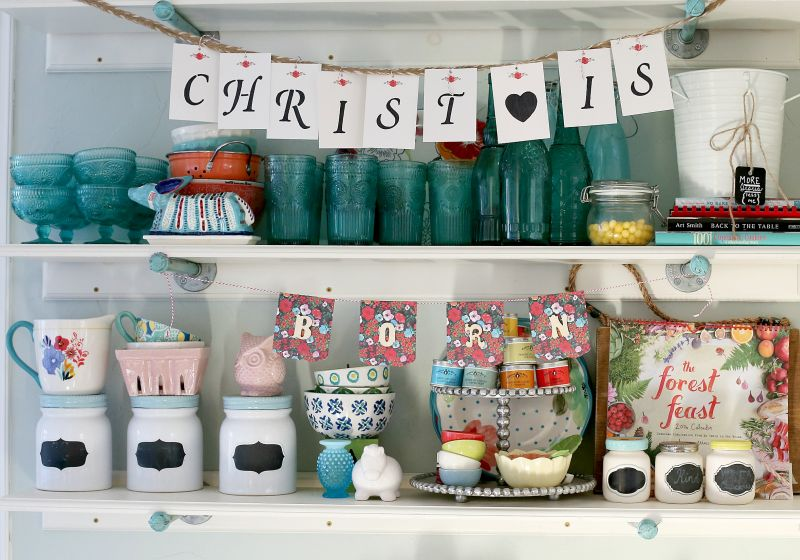 Ribbons, garlands, wreaths and other Christmas decorations