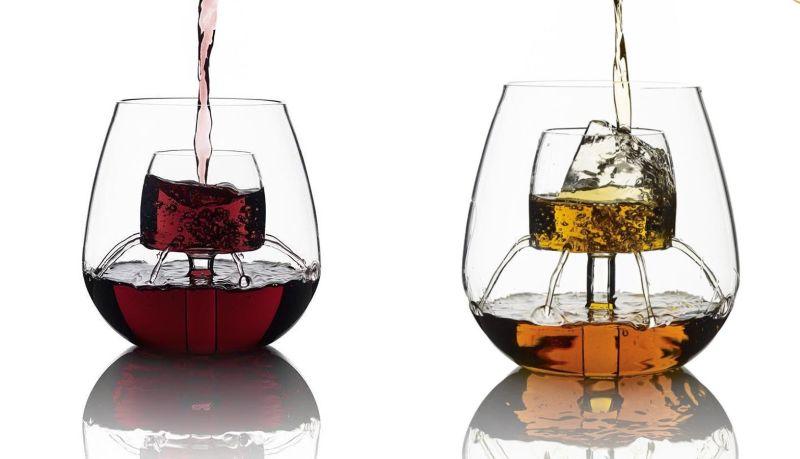 Shower wine glass