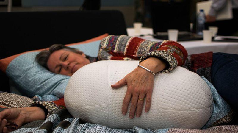 Somnox robotic hug pillow simulates breathing to improve your sleep