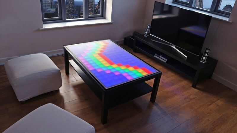 Stephane Baleon's interactive coffee table displays animations, lets you play games