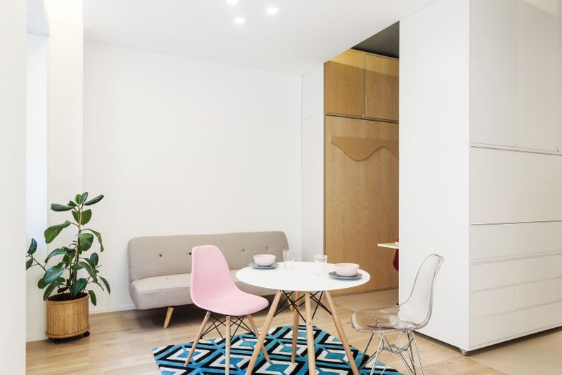 Taac 29.5 sqm micro apartment has a multifunctional moving wall_14