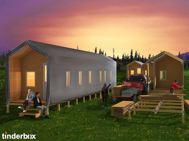 An architecture student designs modular flat-pack emergency shelters