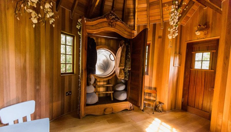 Blue Forest's Faun's Realm fairytale treehouse complete with its own slide