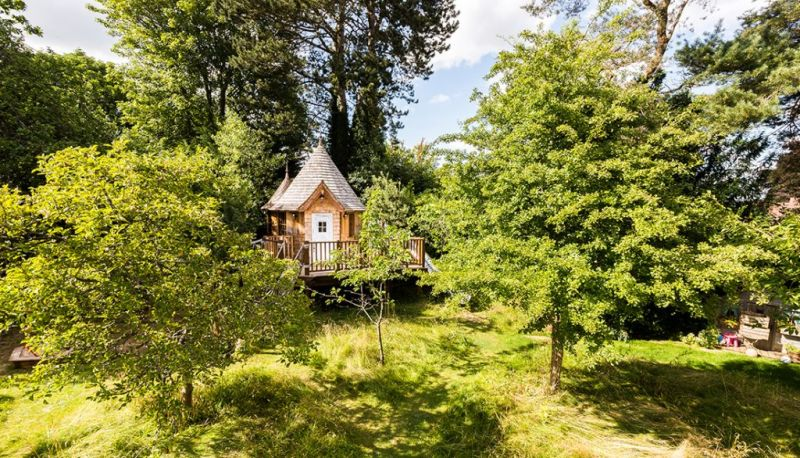 Blue Forest's fairytale treehouse complete with its own slide