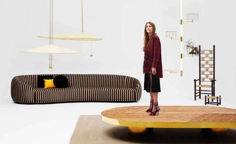 Fendi exhibits Welcome living room furniture collection at Design Miami 2017