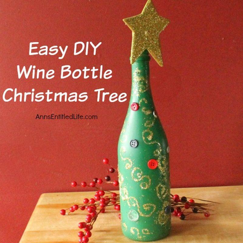 Glass bottle Christmas tree