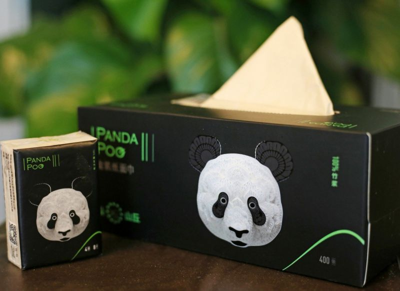 Paw-Some panda poop tissue paper with love from China
