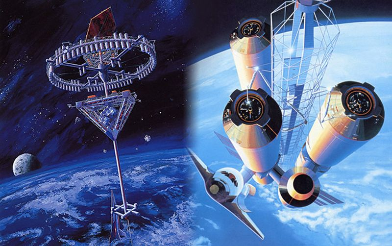 Proposed space hotel by Shimizu