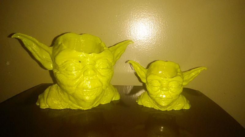 Star Wars Yoda 3D-printed succulent planter