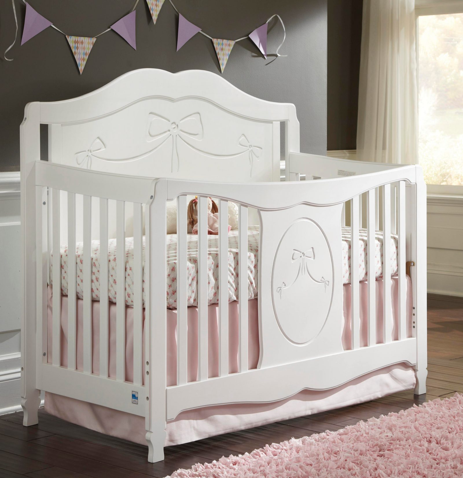 Storkcraft's Princess convertible crib grows with your child
