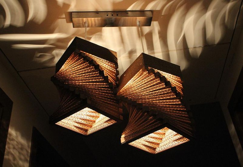 Sylvn Studio's cardboard lamps offer patterned illumination