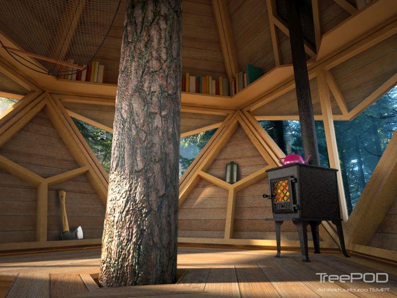 This low-impact Treepod treehouse pod is built around a single tree