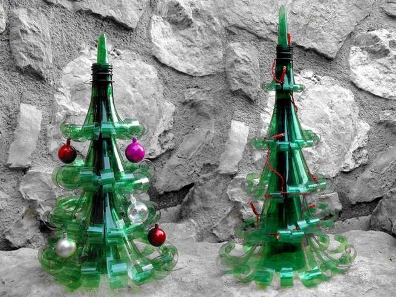 recycled plastic bottle christmas-tree