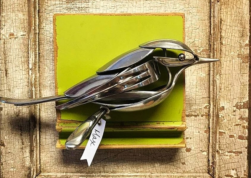 Matt Wilson turns old cutlery into unique metal sculptures