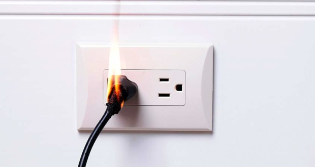 Causes of electrical fires at home