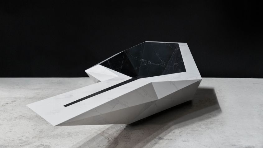 GG Architects Designs Hammam freestanding bathtub out of COMPAC engineered Quartz
