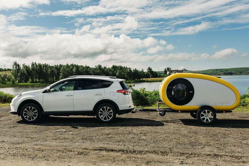 Rent Mink Teardrop Trailer to Glamp Around Icelandic Landscapes