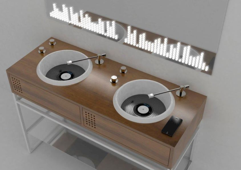 Turntable Washbasins by Olympia Ceramica
