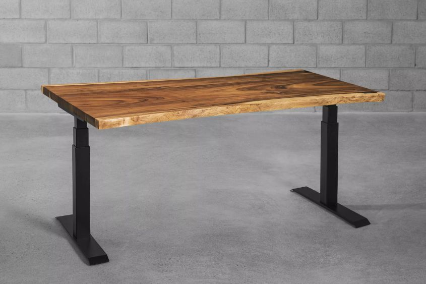 Alive Height-adjustable Live Edge Desk by ergonofis
