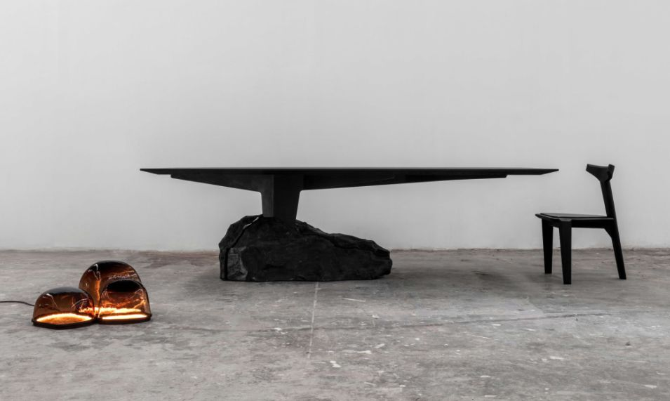 Furniture made from volcanic rock