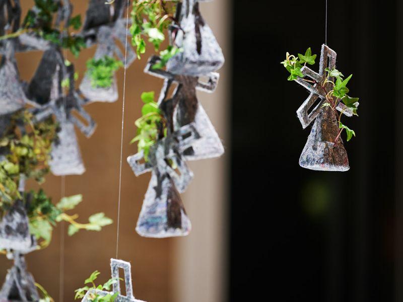 Eriko Yokoi's recycled fiber planter