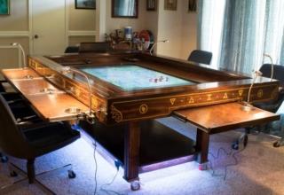 DIY steampunk gaming table