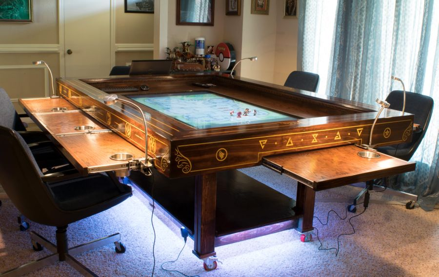 DIY steampunk gaming table