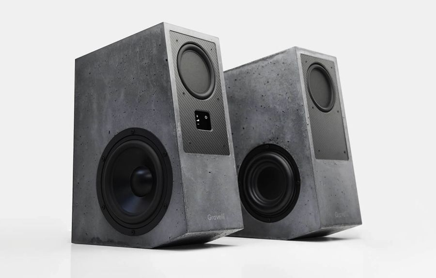 Gravelli Virtuoso Concrete Speakers