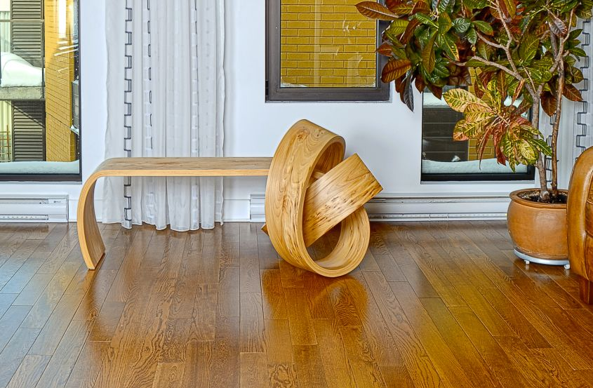 Kino Guerin Bends Laminated Wood into Inviting Curved Furniture