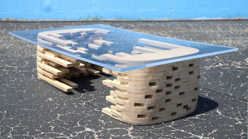 DIY Coffee Table made from One Sheet of Plywood