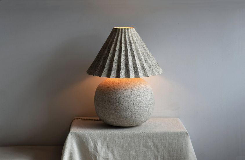 Stoneware Table Lamps by Natalie Weinberger