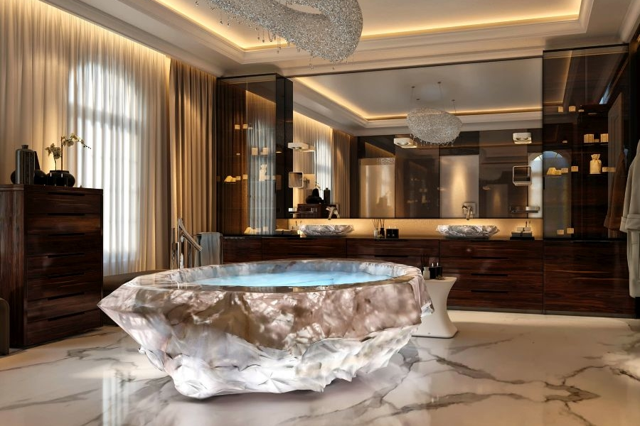 Baldi Home Jewels Rock Crystal Bathtub