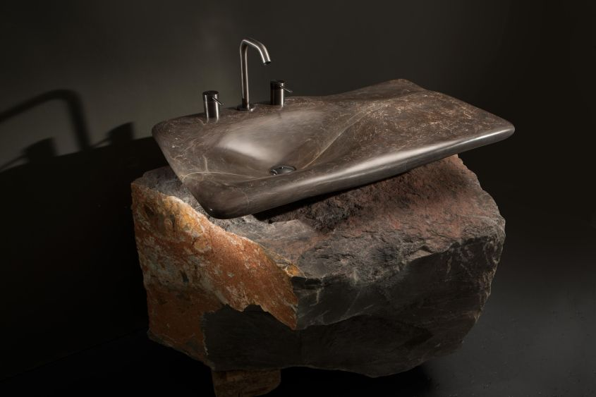 Miguel Herranz Designs Flow Stone Washbasin for Nerinea