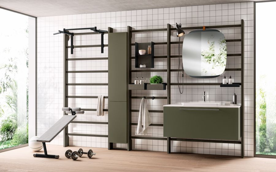 Scavolini Gym Space Bathroom by Mattia Pareschi