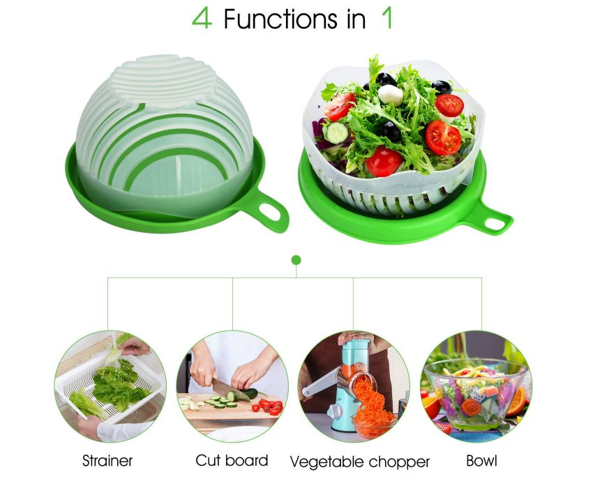 WEBSUN Salad Cutter Bowl - Gifts for her