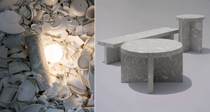 Bentu Design Furniture Made From Wasted Ceramics