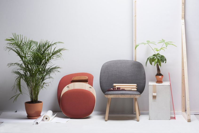 Naïve Low Chair by etc.etc. Features Ready-to-Assemble Design