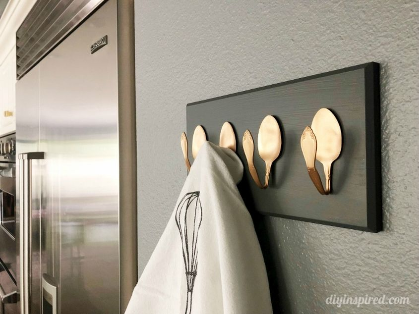 Repurposing Metal Spoons into Coat Rack