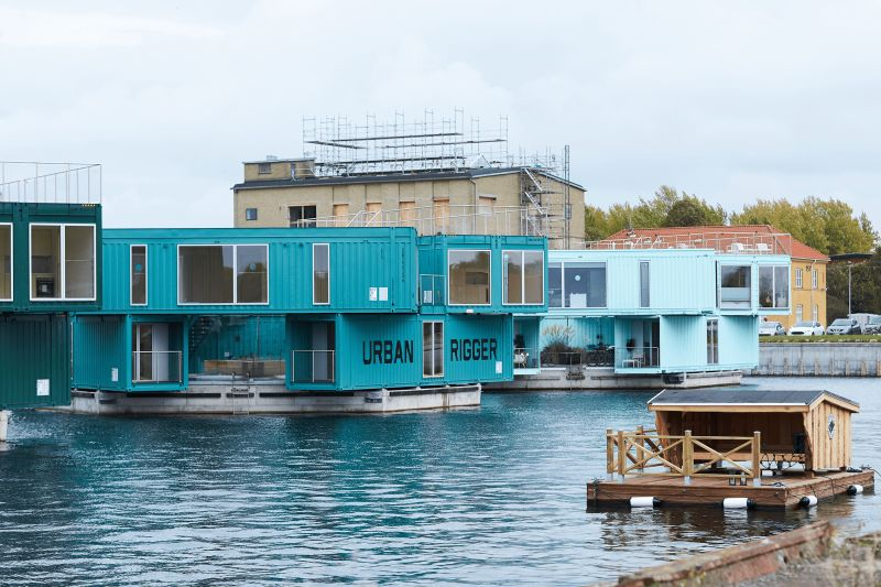floating shipping container homes