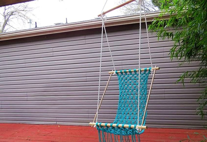 DIY Hammock You can Make with Macramé Rope