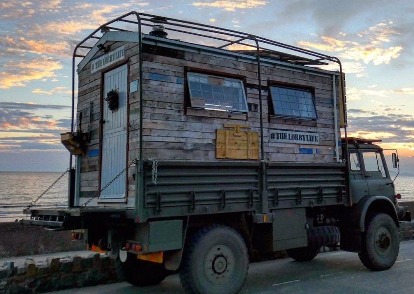 The Lorry Life: Off-Grid House Truck of Tom and Sophie