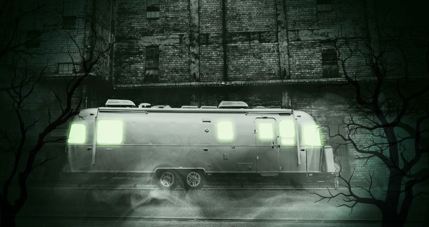 Celebrate Halloween - Tiny House on Wheels - Airstream Trailer