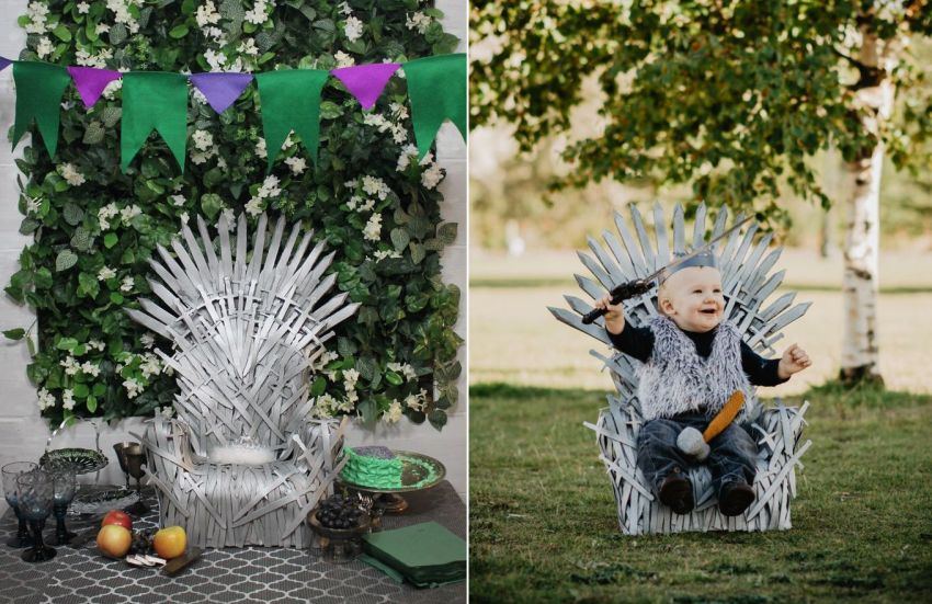 Easy DIY: Make a Baby-Sized Iron Throne using Craft Foam and Baby Chair