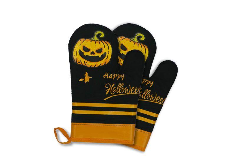 Halloween kitchen oven mitts -gloves