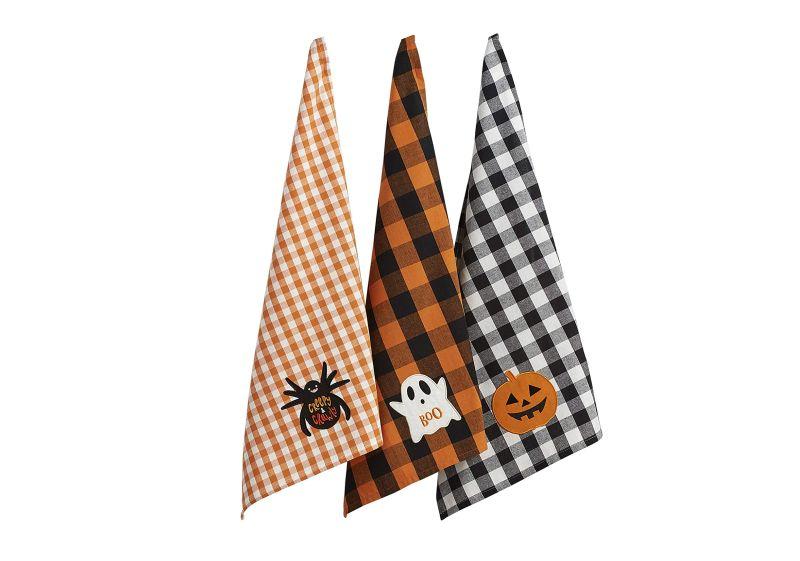 Halloween themed kitchen dish towels -
