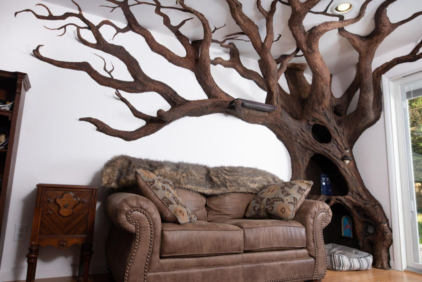 Robert Rogalski Builds Cat Tree Inspired by Tolkien's Ents