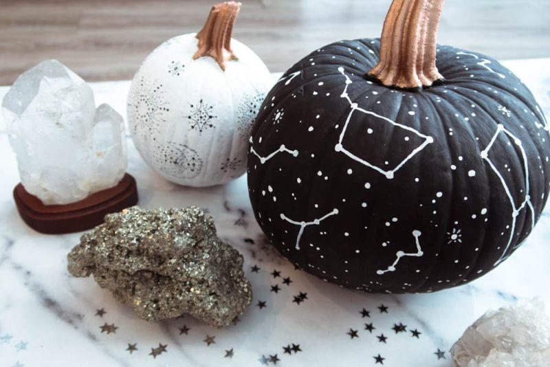 Painted galaxy pumpkin ideas