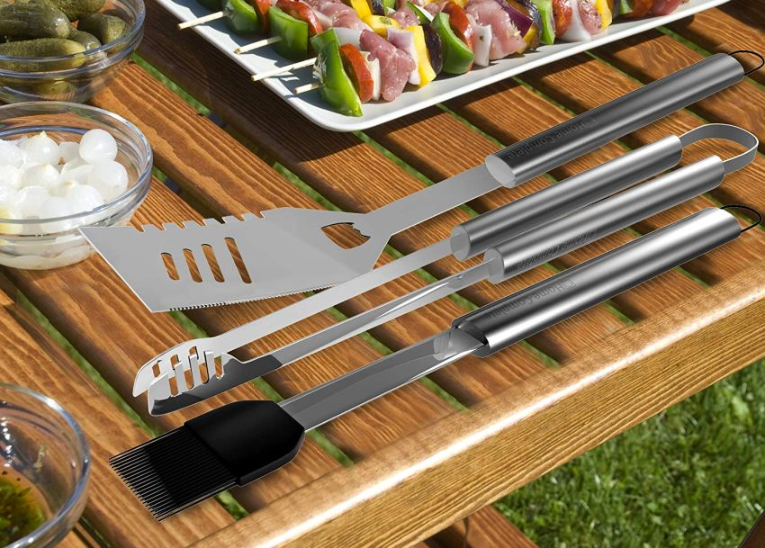 BBQ Grill 16-Piece Stainless Steel Tool Set
