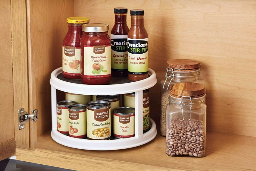 Copco 2-Tier Lazy Susan Turntable - Kitchen Organizer